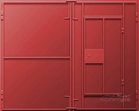 Бюджетный вариант для гаража: двери из металла