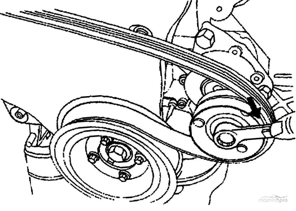 Замена ремня генератора на шевроле нива своими руками
