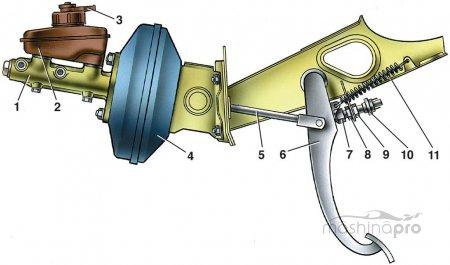 Обслуживание тормозов ВАЗ 2109: замена неисправного вакуумника&raquo