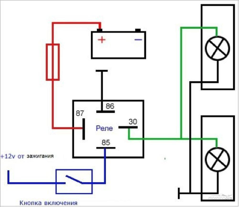 Ближний свет ходовые огни схема подключения
