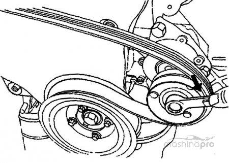 1384256093 shema - Схема установки ремня генератора на шевроле нива