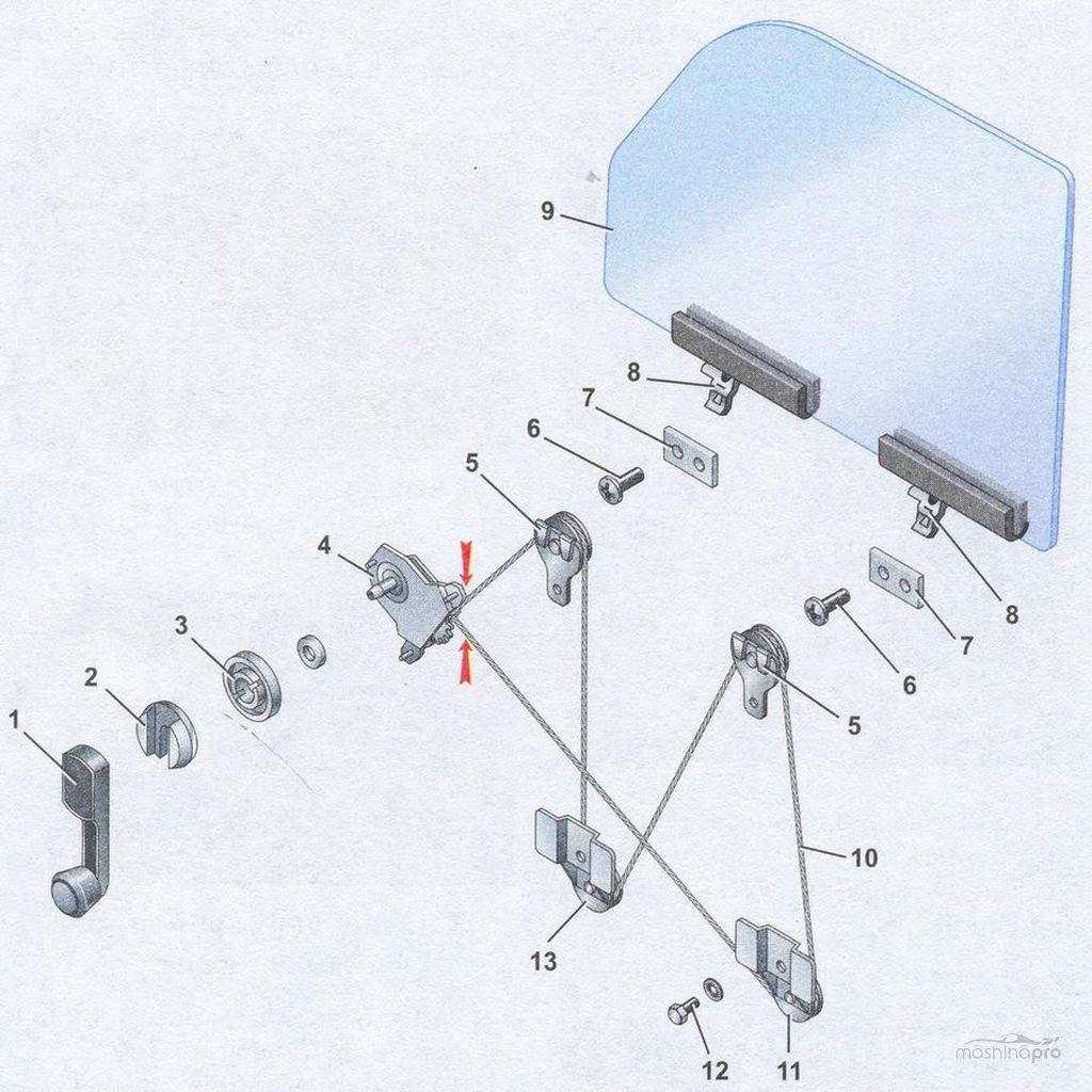 Простая замена стеклоподъемника ваз 2107: тонкости и ход процесса.