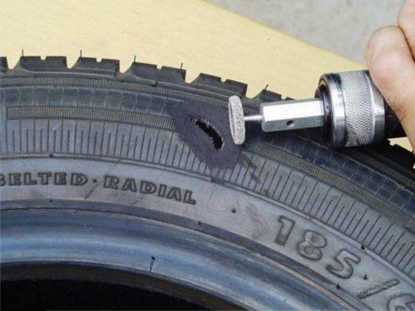 Шлифовка бокового пореза шины