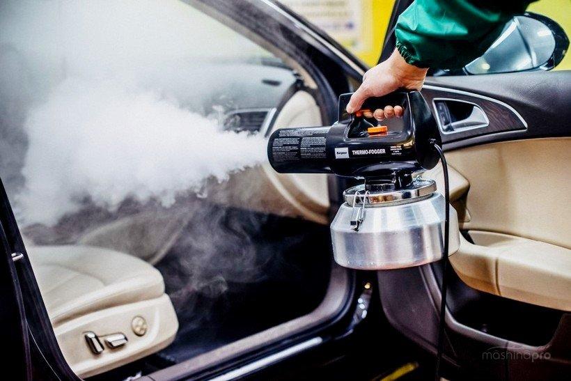 Очистка горячим туманом салона автомобиля