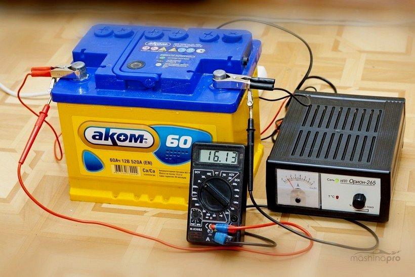 Измерение зарядного тока