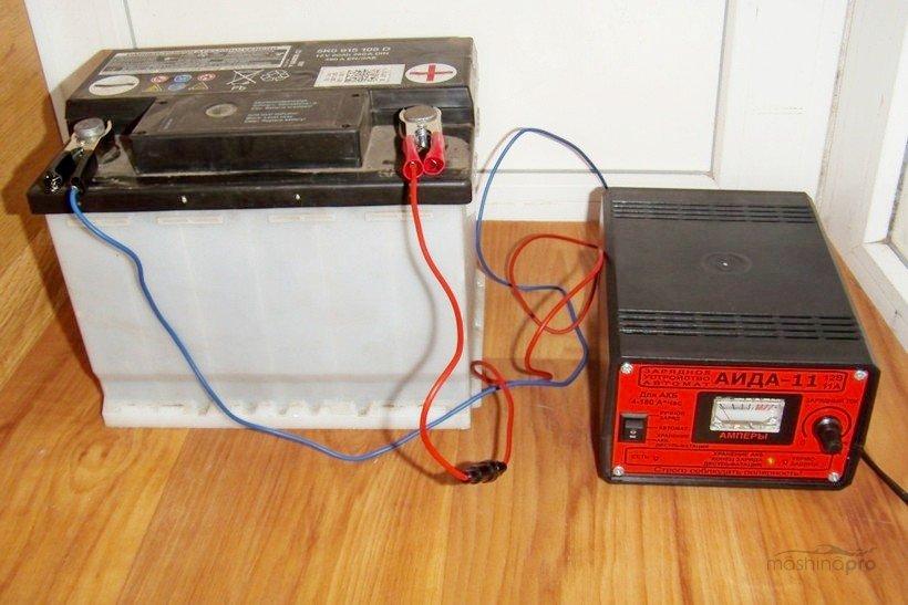 Зарядка автомобильного аккумулятора на балконе