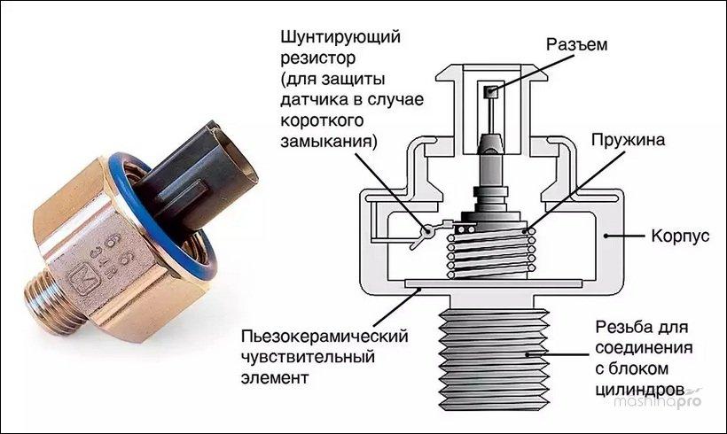 Схема датчика детонации