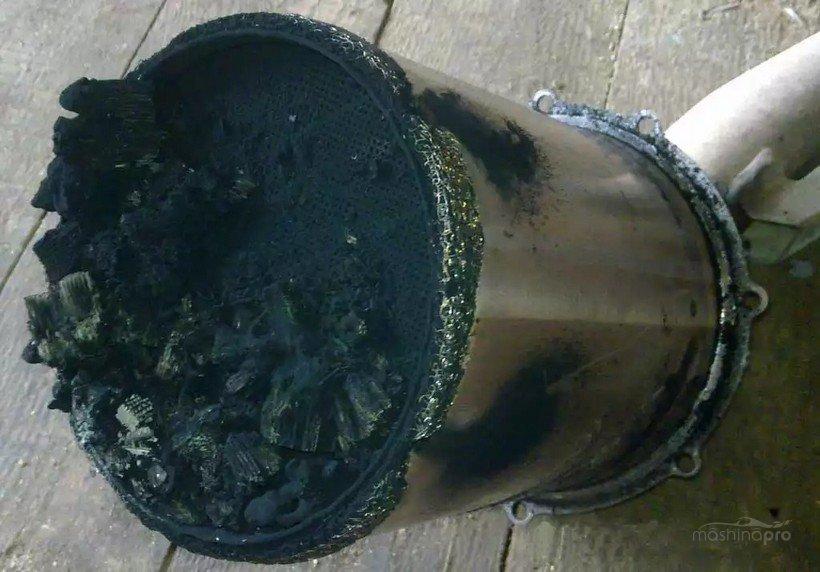 Загрязненный сажевый фильтр