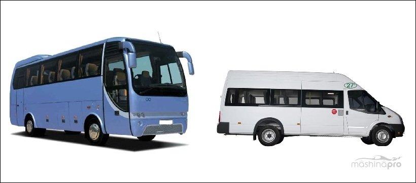 Автобус и микроавтобус