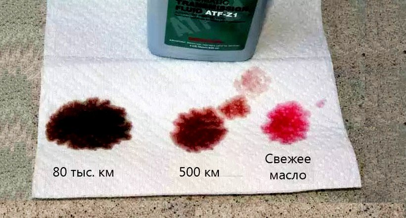 Тест масла на салфетке