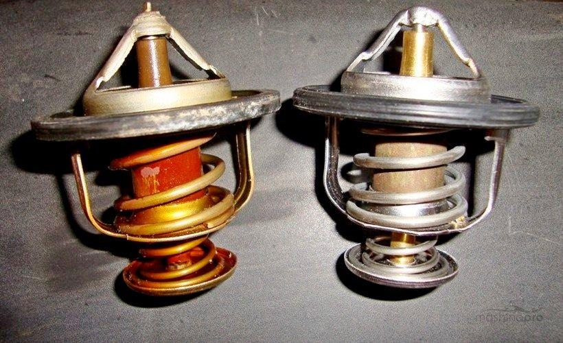 Старый и новый термостаты