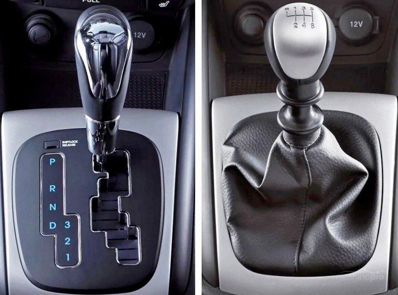 Рычаги переключения передач автомобиля