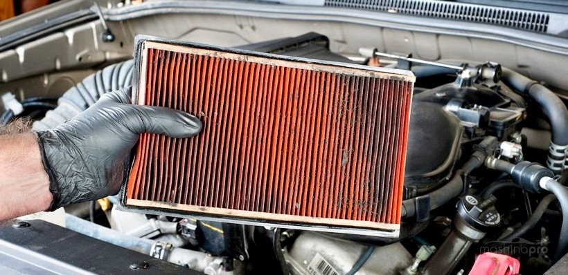 Загрязненный воздушный фильтр