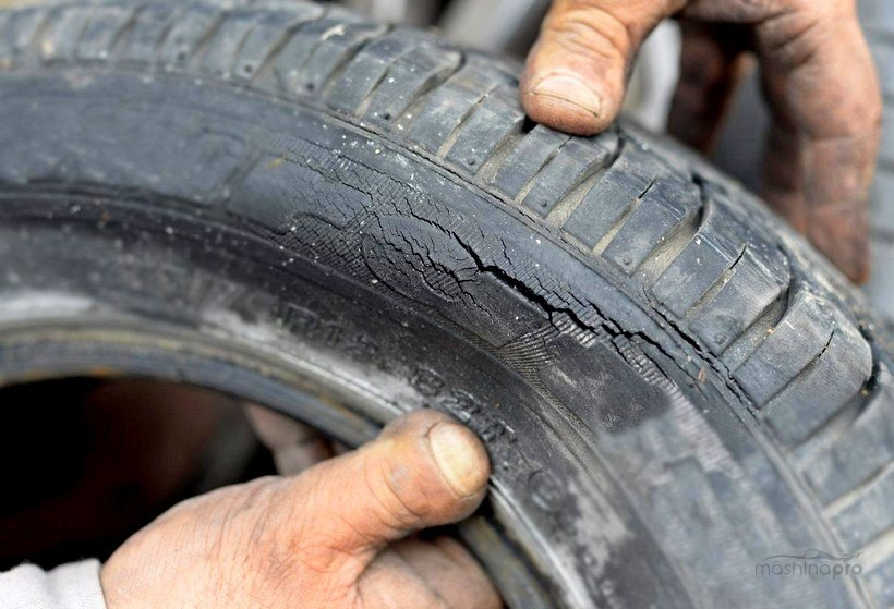 Боковые трещины на шине